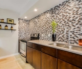 2200 Dickson Dr Unit 125 Austin Tx 78704 Glass tile and Silestone Kitchen