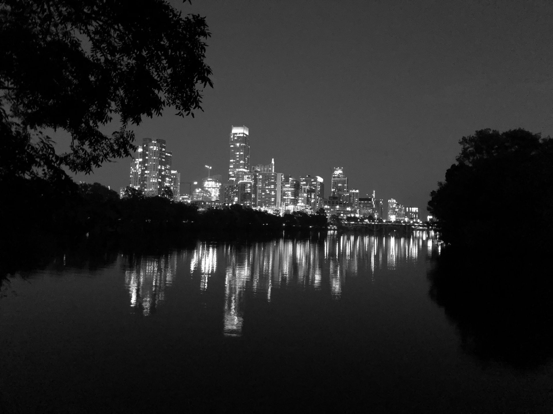Austin Skyline Black and White