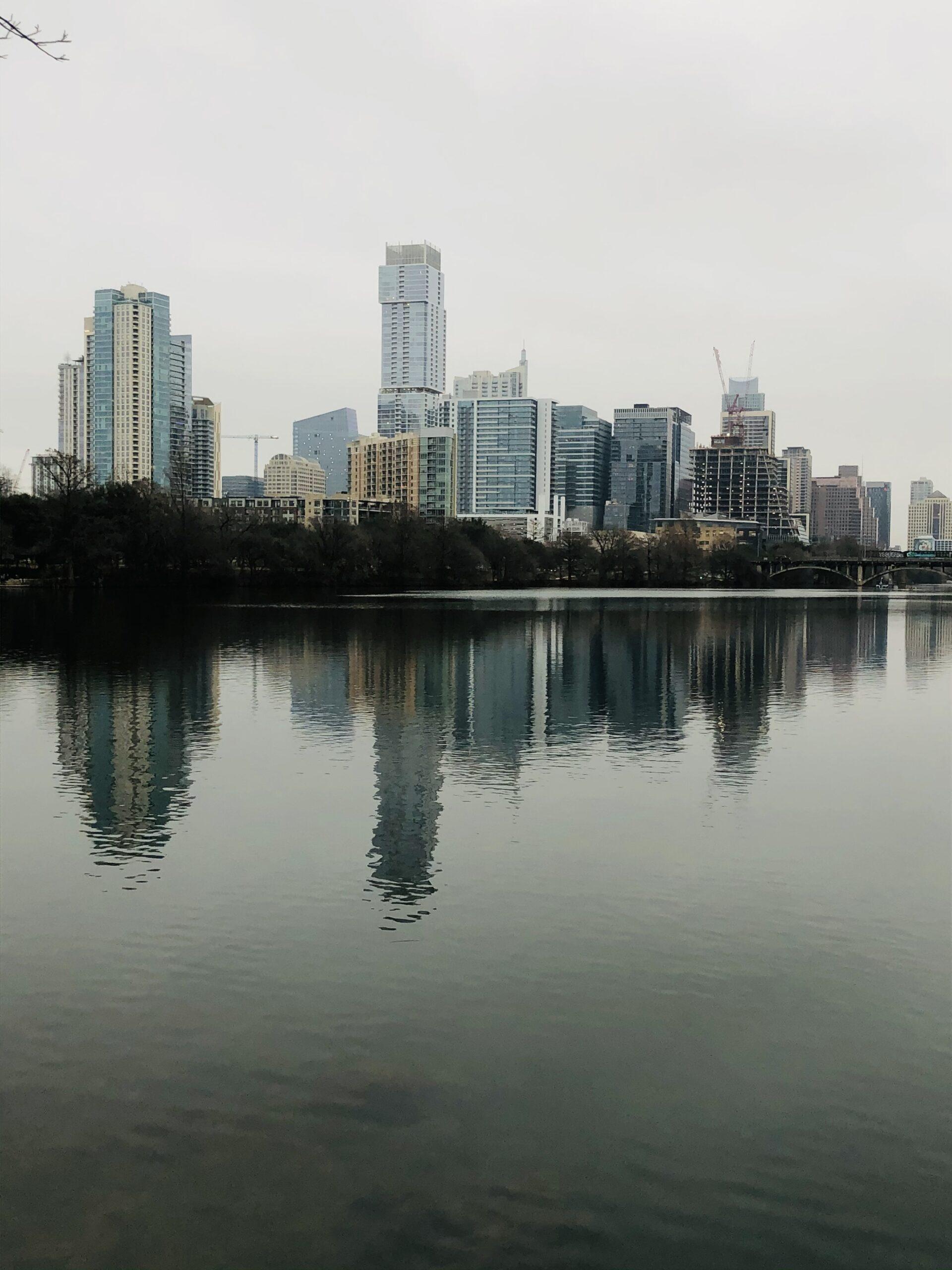 Austin cityscape reflection